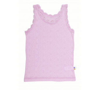 Joha wool silk sleeveless shirt pink