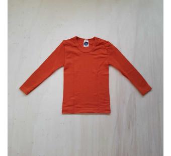 Cosilana lange mouw tshirt 70% wol 30% zijde oranje (71233)