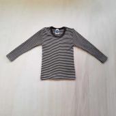 Cosilana long sleeve shirt 70% wool 30% silk brown striped  (71233)