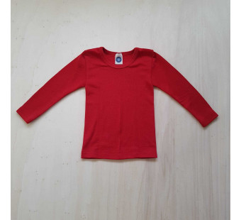 Cosilana long sleeve shirt 70% wool 30% silk red (71233)