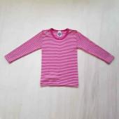 Cosilana long sleeve shirt 70% wool 30% silk pink striped (71233)