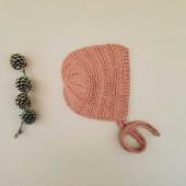 Lillelovaknits 100% zijde bonnet Alma kardemon