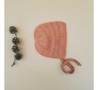 Lillelovaknits 100% silk bonnet 'Alma' pale rust