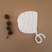 Lillelovaknits 100% zijde bonnet Alma pale rust