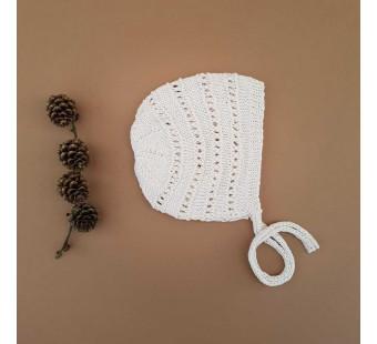 Lillelovaknits 100% zijde bonnet 'Alma' milk