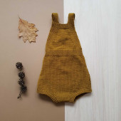 Lillelovaknits playsuit 'Tore' mustard