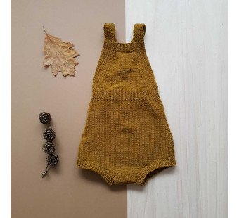 Lillelovaknits playsuit 'Tore' mustard