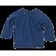 Reiff wol zijde wikkeltrui van badstofstructuur (terry) navy