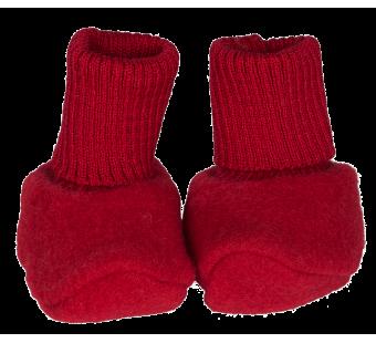 Reiff woolfleece booties red