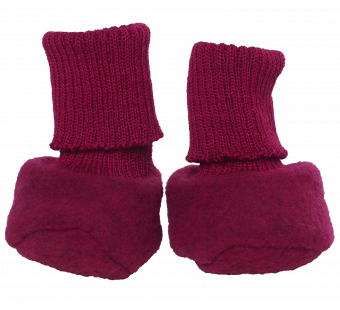 Reiff woolfleece booties berry
