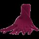 Reiff dikke wolfleece sjaal bessenrood