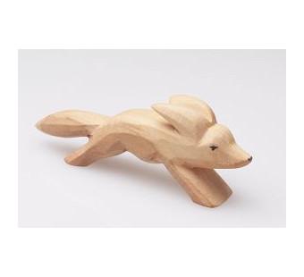 Predan houten vos lopend