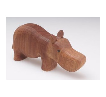 Predan large wooden hippo