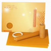 Dipam set of 3 sheets of beewax and candle yarn