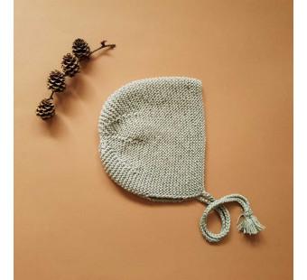 Lillelovaknits bonnet 'Ava' pale eucalyptus