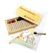Stockmar Wax crayons- 16 colours in Wooden Box