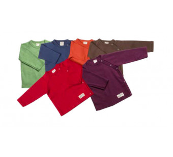 Lilano wolzijde overslag shirtje diverse kleuren