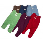 Lilano softly rubbed woolen romper with legs different colours