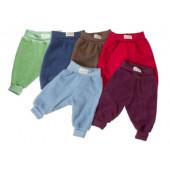 Lilano wolplush frottee broekje met boord diverse kleuren