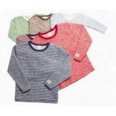 Lilano softly rubbed woolen sweater striped different colours
