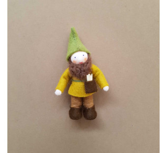 Seasonal table forest Pocket dwarf with hammer