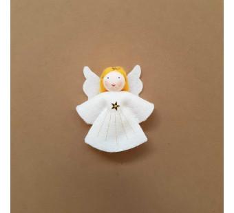 Vilten poppetje Engeltje klein geel haar