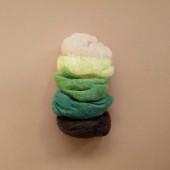 Filges 25 gram biologische plantaardig geverfde wol in groen/bruin tinten