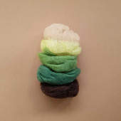 Filges 25 gram organic plant dyed wool green/brown shades