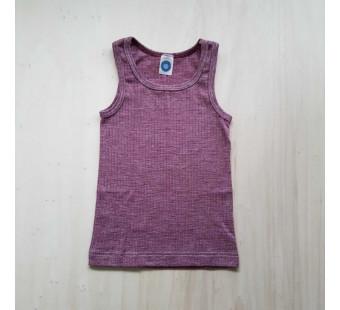Cosilana hemd katoen/wol/zijde wijnrood (91230)