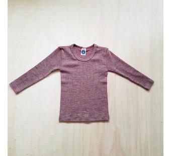 Cosilana longsleeve cotton wool silk  burgundy (91233)