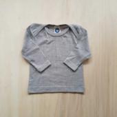 Cosilana longsleeve grey cotton/wool/silk soft blue  (91032)