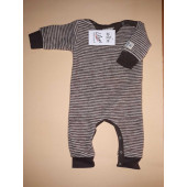 Lilano softly rubbed woolen jumpsuit purple striped