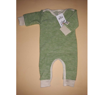 Lilano softly rubbed woolen jumpsuit green striped