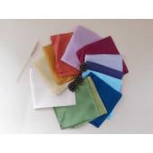 Filges zijde doeken per stuk diverse kleuren en maten