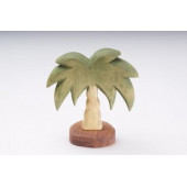 Predan wooden palm tree about 13cm high