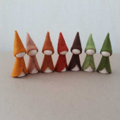 Zeven boskabouters  (atelier Pippilotta) *exclusief voor Regenboogschaap*