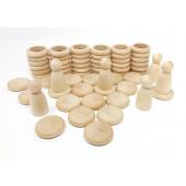 Grapat Nins munten en ringen naturel (15-102C)