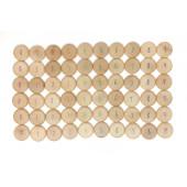Grapat set van 60 muntjes met cijfer (19-208)