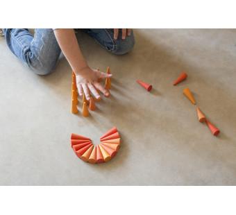 Grapat set mini mandala kegels oranje (19-206)