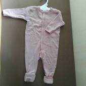 Joha jumpsuit oudroze met omslag 100% merinowol  (56140)