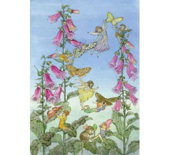 Postal card Fairies and Foxgloves (Molly Brett)