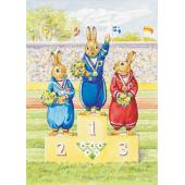 Postal card  Rabbit Olympic Events (Audrey Tarrant)