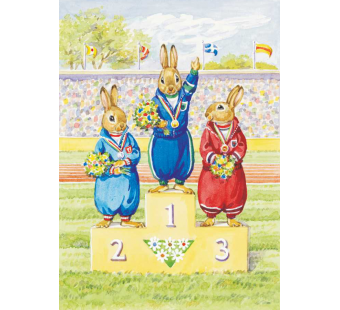 Postkaart olympic champion