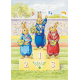 Postal card  Rabbit Olympic Events, winners (Audrey Tarrant)