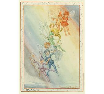 postal card Rainbow fairies (Margareth Tarrant)