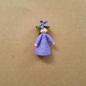 Seasonal doll violet
