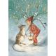 Postal card  Under the mistletoe (Magareth Tarrant)