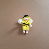 Seasonal doll yellow bee