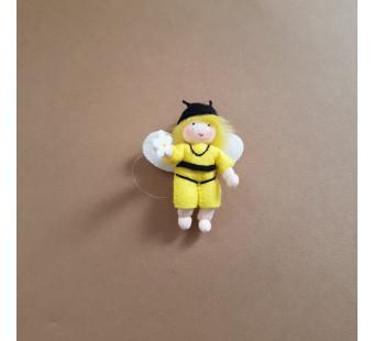 vilten poppetje gele bij