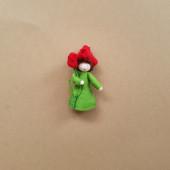 Seasonal doll red tulip